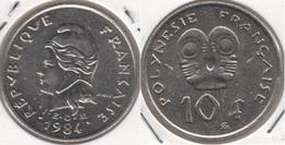Polinesia Francese 10 Francs 1984 KM#8 - Used - Polynésie Française
