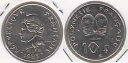 Polinesia Francese 10 Francs 1985 KM#8 - Used - Polynésie Française