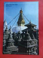 Népal  Le Stupa De Swoyambhunath Katmandu - Népal