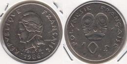 Polinesia Francese 10 Francs 1986 KM#8 - Used - Polynésie Française