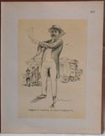 """Mons. Superbe Caricature De """"Auguste Bouillez"""" Par René D'Inn. Publiée En 1909 - Culture"""