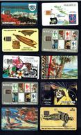 TELECARTE -  2 X POLYNESIE -  6 X NOUVELLE CALEDONIE - 2 X WALLIS Et FUTUNA Dont 1 Encore Sous Blister - Forte Cote - Phonecards