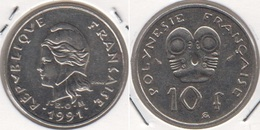 Polinesia Francese 10 Francs 1991 KM#8 - Used - Polynésie Française