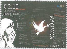KOS 2016-10 MUTHER TERESA, KOSOVO, 1 X 1v, MNH - Kosovo