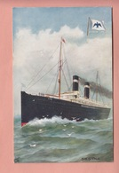 OLD POSTCARD - SHIPPING -    AMERICAN LINE - S.S.PALE  - TUCK - Paquebots