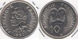 Polinesia Francese 10 Francs 1997 KM#8 - Used - Polynésie Française