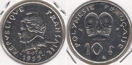 Polinesia Francese 10 Francs 1999 KM#8 - Used - Polynésie Française