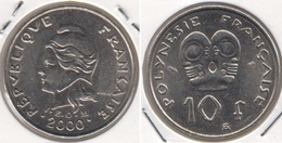 Polinesia Francese 10 Francs 2000 KM#8 - Used - Polinesia Francese