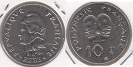 Polinesia Francese 10 Francs 2003 KM#8 - Used - Polinesia Francese