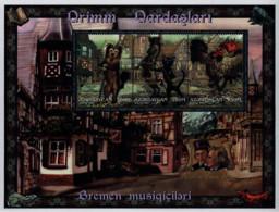 Ref. 288423 * NEW *  - AZERBAIJAN . 1997. CUENTOS DE LOS HERMANOS GRIMM. LOS MUSICOS DE BREMEN - Azerbaiján