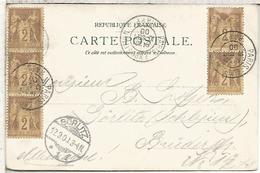 FRANCIA PARIS 1900 TP CON MAT EXPOSICION UNIVERSAL EXPOSITION - 1900 – Paris (France)