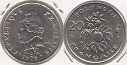 Polinesia Francese 20 Francs 1975 KM#9 - Used - Polynésie Française