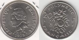 Polinesia Francese 20 Francs 1979 KM#9 - Used - Polinesia Francese