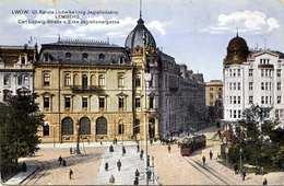 LWOW LEMBERG - Carl Ludwig-Straße U.Ecke Jagiellonergasse, Gel.1915, Roter Zensurstempel Lemberg - Ukraine