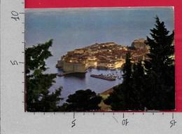 CARTOLINA VG JUGOSLAVIA - DUBROVNIK RAGUSA Tramonto Sul Porto - 10 X 15 - ANN. 1982 DUBROVNIK - Jugoslavia