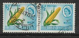 S.Rhodesia, 1964, 1/2D, MAIZE, PAIR, C.D.S. USED - Rhodésie Du Sud (...-1964)