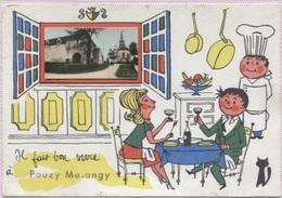 CPSM - Illustration Jean De PREISSAC - Humour - POUZY MESANGY - Edition F.L. - Autres Communes