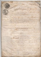 Acte Contrat De Mariage Tillet Le Rouxel Marigny Saint Lo Manche Cachets 1813 Napoléon Par La Grâce De Dieu ...6 Pages - Manuscripts