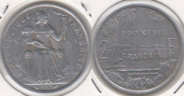 Polinesia Francese 2 Francs 1977 KM#10 - Used - Polynésie Française