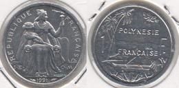 Polinesia Francese 1 Franc 1991 KM#11 - Used - Polinesia Francese