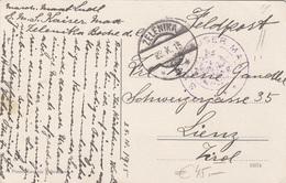 Sonderstempel .. AUSER MAX, Stempel ZELENIKA, Auf Ak BIANCA, BJELA, BOKA HOTORSKA - Gel.1917 - 1914-18