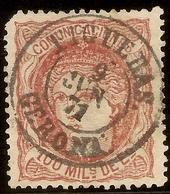 ESPAÑA Edifil 108 (º)  100 Mm Escudo Castaño Rojizo  Alegoria España 1870 NL1279 - 1868-70 Provisional Government