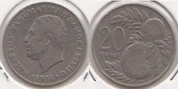 Samoa 20 Sene 1974 KM#16 - Used - Samoa