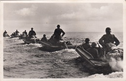 DEUTSCHES REICH - PIONIERSTURMBOOT In Kiellinie, Fotokarte Ungel.194? - 1939-45