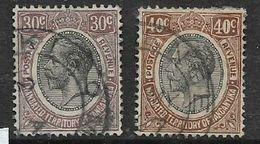 Tanganyika, 1927,GVR, 30 Cents, 40 Cents, Brown,  Used - Tanganyika (...-1932)