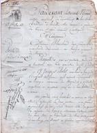 Acte Notarial Notaire Nivard Lamotte Sur Beuvron Vente Vouzon Blanchard Cholet Manuscrit 13 Fructidor An 13 (1805) 4 Pag - Manoscritti