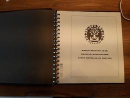 RARE : ALBUM DE TIMBRES SUR LE THEME DE L'ANNEE DES REFUGIES - Collections (with Albums)