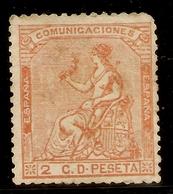 ESPAÑA Edifil 131 (*)   2 Céntimos Naranja  Corona/Alegoría España  1873  NL1390 - 1868-70 Provisional Government