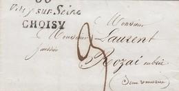 LAS . 1 NOV 40. SEINE. CURSIVE 60/Vitry-sur-Seine/CHOISY. POUR ROZAI EN BRIE. TAXE PLUME 3  /  2 - 1801-1848: Précurseurs XIX