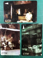 MACAU-CTM 90'S TRADITIONAL PROFESSION OF MACAU PHONE CARDS SET OF 3 ALL FINE USED - Macao