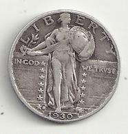 Etats Unis Quarter Dallar 1930  Argent 6,10 Grs - 1964-…: Kennedy