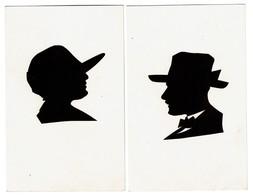 2 Cartes - Silhouette - Silhouettes Découpées - 2 Scans - Silhouettes