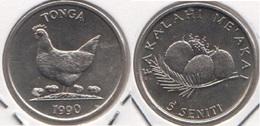 Tonga 5 Seniti 1990 F.A.O. KM#68 - Used - Tonga
