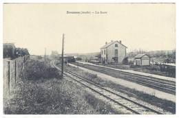 Cpa Douzens - La Gare  ( Train Petit Plan )    ( S. 3333 ) - France