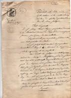 Acte Notarial Notaire Egret Lamotte Beuvron Vente De Droit De Passage Vouzon Huet Soyer Manuscrit  1828 4 Pages - Manuscripts