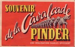 """Dépliant """"Souvenir De La Cavalcade Du Cirque PINDER"""". 6 Vues Couleurs, Pliage Accordéon. Année 1950. Bon état. 2 Scan - Autres"""