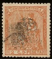 ESPAÑA Edifil 131 (º)   2 Céntimos Naranja  Corona/Alegoría España  1873  NL1281 - 1868-70 Provisional Government
