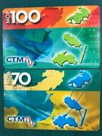 MACAU-CTM 2002 MAP OF MACAU AND CHINA PHONE CARDS SET OF 2 ALL FINE USED - Macao