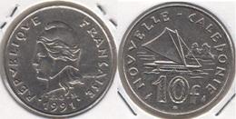 Nuova Caledonia 10 Francs 1991 KM#11 - Used - Nuova Caledonia