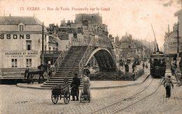7519  -2018           REIMS  RUE DE VESLE   PASSERELLE SUR LE CANAL - Reims