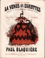 La Vénus Aux Carottes, Ronde, Grand Format, Couverture Illustrée Et Colorée Avec Gravure De Grévin. Exceptionnel - Partituren