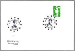 CHARLES DE GAULLE Y EUROPA. Strasbourg 1990 - Militaria