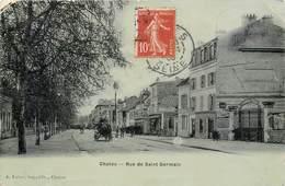 CPA 78 Yvelines Seine Et Oise Chatou Rue De Saint Germain A. Fabre Imp.-édit Publicité Chaussures Incroyable Paris - Chatou