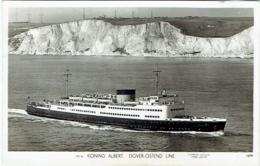 "Carte Photo. Bateau ""Koning Albert"" Dover-Ostend Line. - Veerboten"