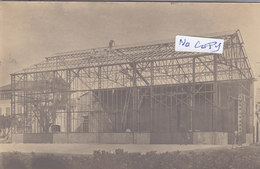 NICE : Construction D'un Cinéma - Superbe Carte Photo - Straßenhandel Und Kleingewerbe