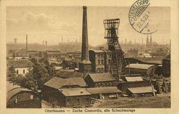 OBERHAUSEN, Rhld., Zeche Concordia, Alte Schachtanlage (1923) AK - Oberhausen